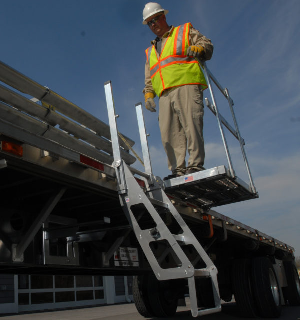 4' Mobile Work Platform + Trucker I Ladder